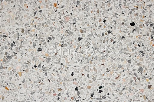 Stone Wall Texture And Terrazzo Floor Background Stock Photo