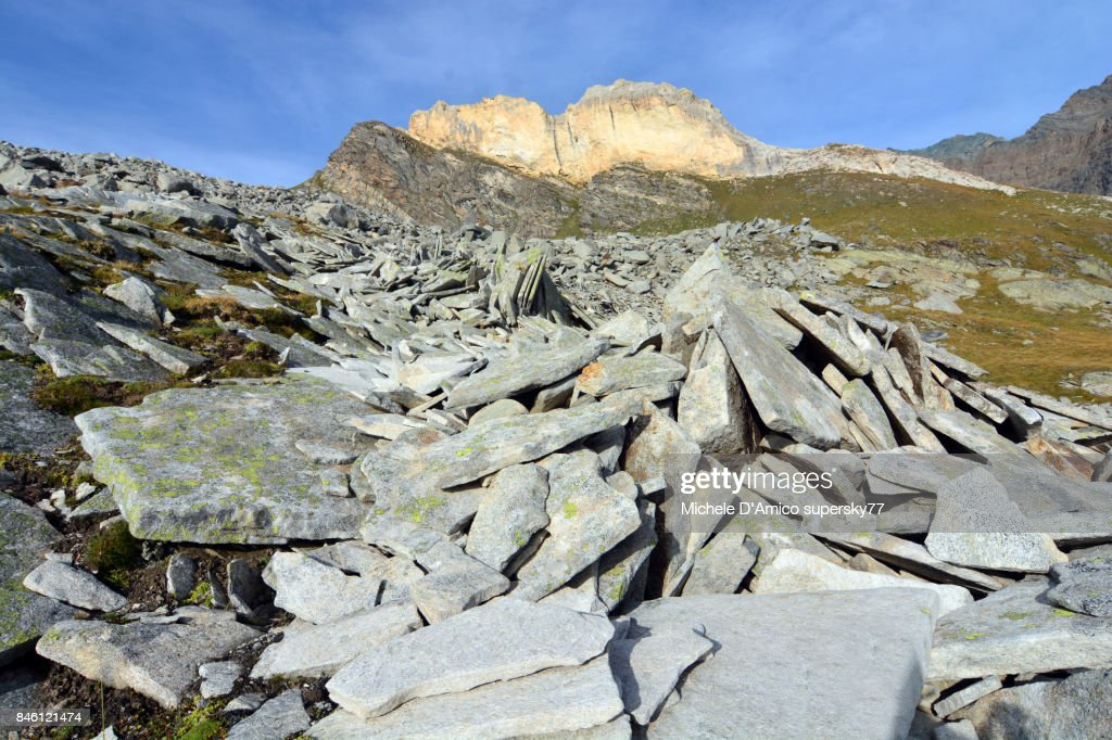 Stone waves in an active blockstream : Stock Photo