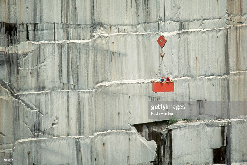 Stonecutters in Marble Quarry