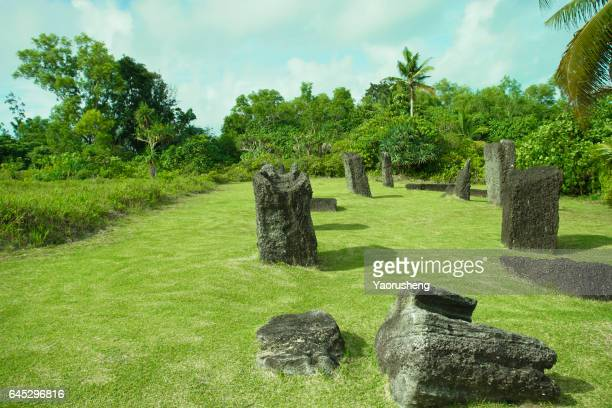 Stonehenge, ancient prehistoric stone monument at Palau island
