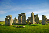 Stonehenge is perhaps the world's most famous prehistoric monument. It was built in several stages: the first monument was an early henge monument, built about 5,000 years ago, and the unique stone ci