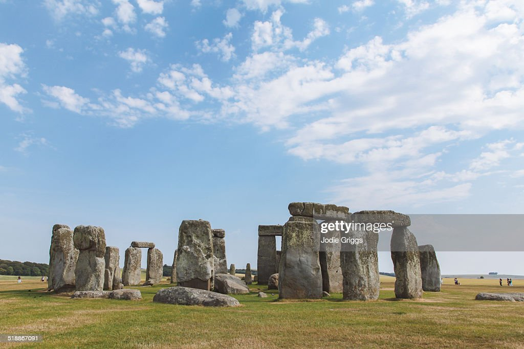 Stonehenge prehistoric monument on warm summer day