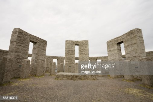 Stonehenge replica in washington state : Stock Photo
