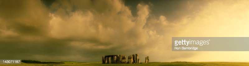 Stonehenge rock formations in rural landscape : Stock Photo
