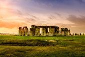 Stonehenge Sunset Landscape