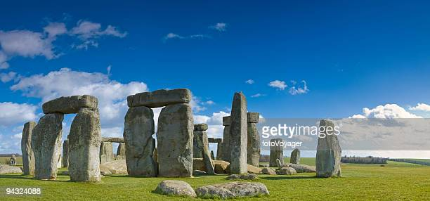 Stonehenge under big blue skies
