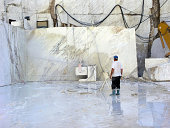 worker in a stone-quarry