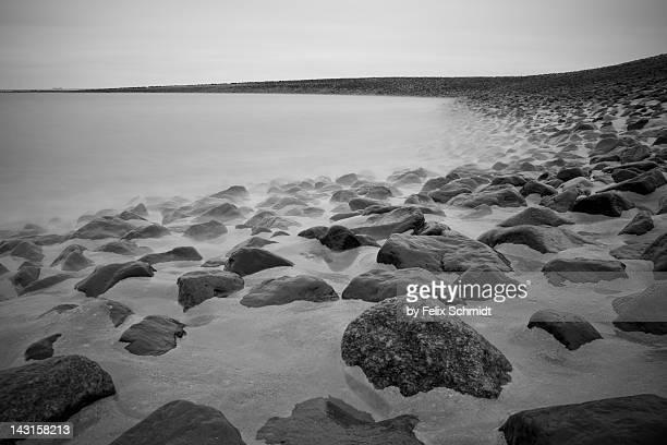 Stones in North Sea in Germany