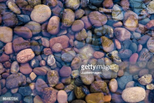 Stones in water : Stock Photo
