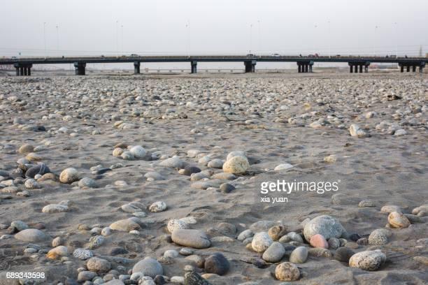 Stones on the riverbed of Yurungkash River,Hotan,China