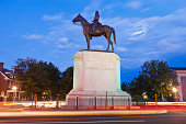 """Thomas Jonathan Jackson Was Given The Name """"Stonewall"""" During A Civil War Battle While For The Confederate Army In Chancellorsville.  The Statue Is Located On Monument Avenue And Was Unveiled On Octob"""