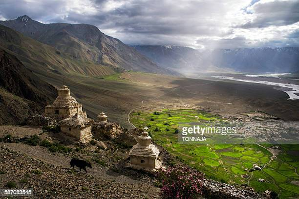 Stongdey Monastery and village, Zanskar
