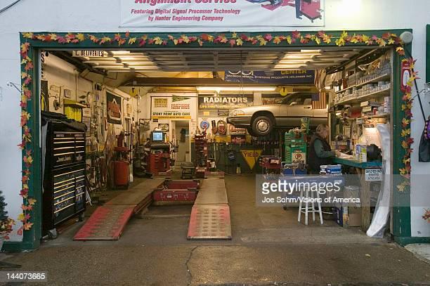 Stony Point garage service station north of New York City along Hudson River New York