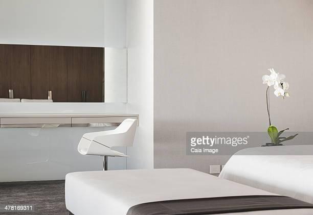 Stool and vanity table in luxury bedroom