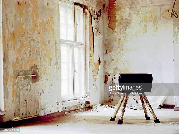 Stool In Abandoned Building