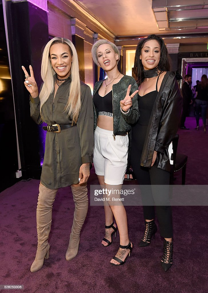 Stooshe attend The London Cabaret Club launch party at The Bloomsbury Ballroom on May 4 2016 in London England