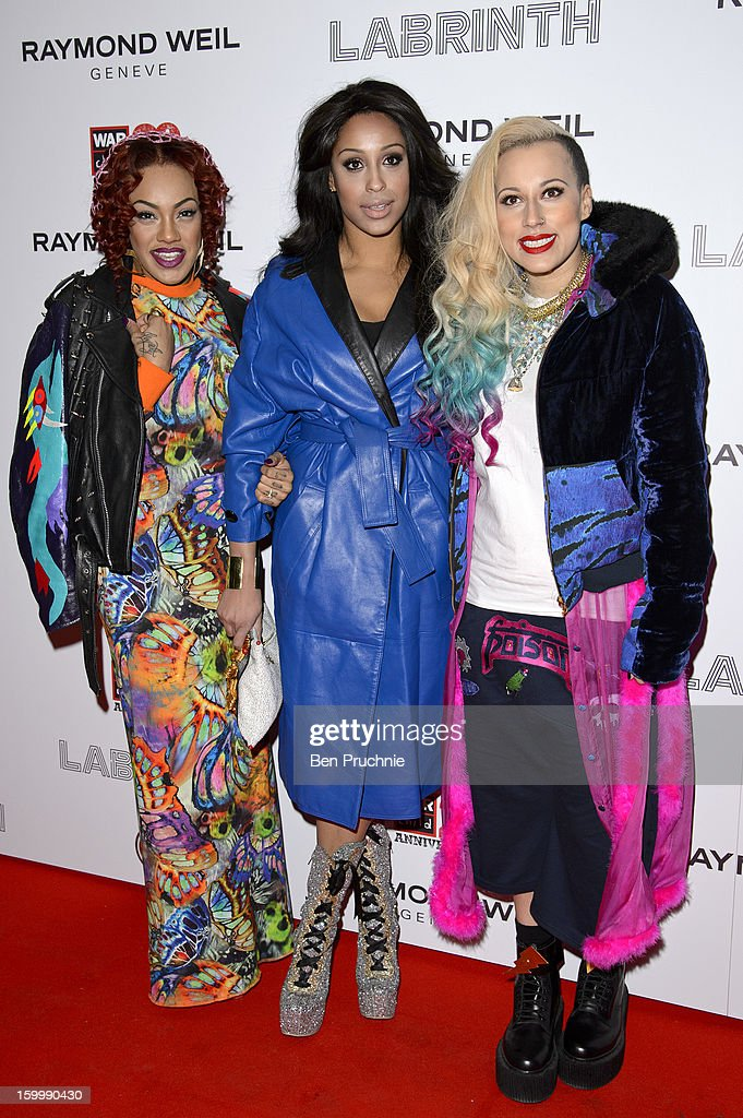 Stooshe attends the Raymond Weil pre-Brit Awards dinner and 20th anniversary celebration of War Child at The Mosaica on January 24, 2013 in London, England.
