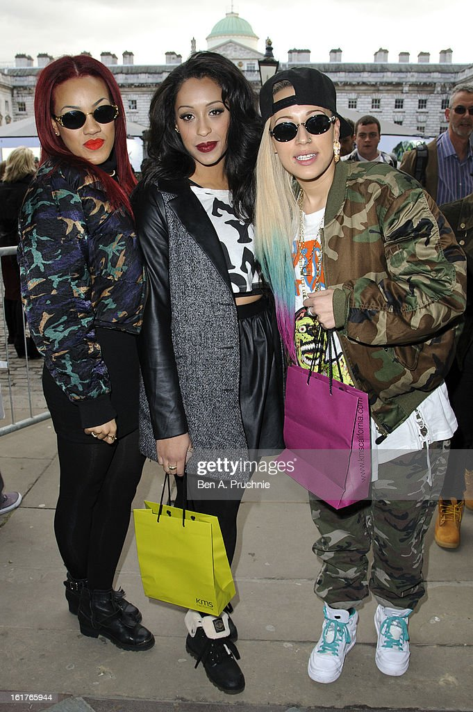StooShe sighted at Somerset House during London Fashion Week F/W 2013 on February 15, 2013 in London, England.