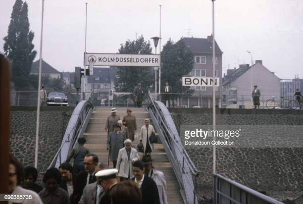 A stop on a cruise on the Rhine river on September 7 1963 in Bonn West Germany