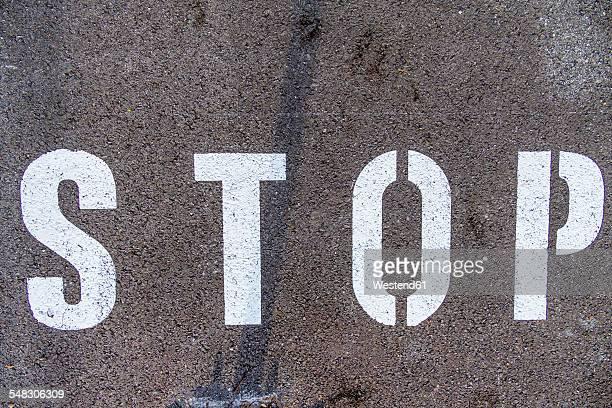 Stop on tarmac