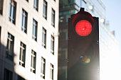 Stop sign illuminated