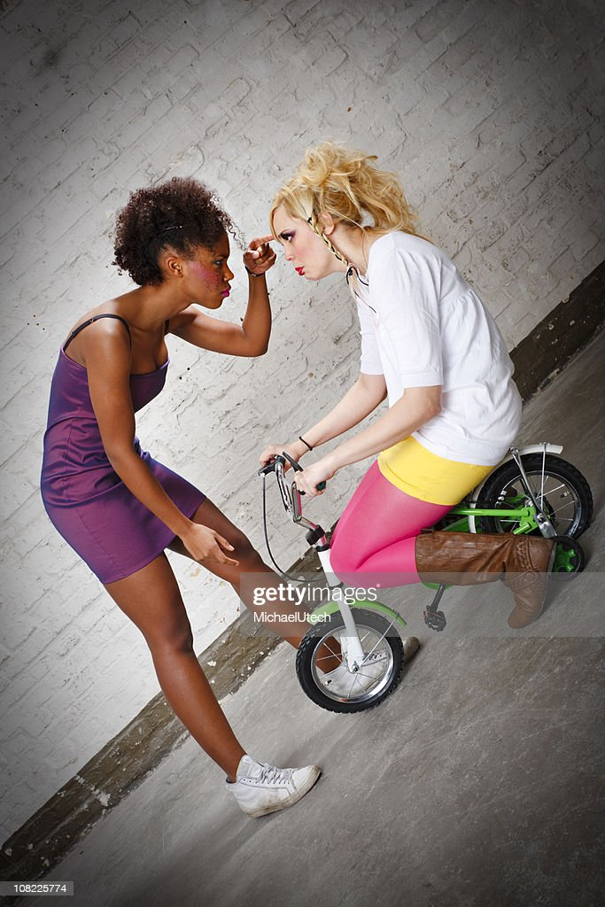 Stop That, Young Lady : Stock Photo