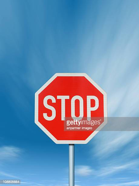 Stop - Traffic Sign with deep blue Sky