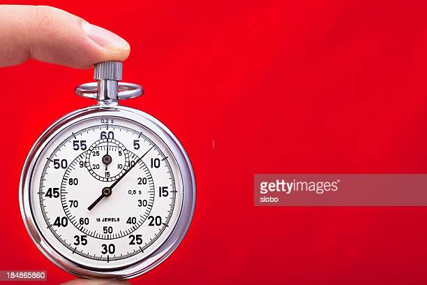 Stop Watch Against Red