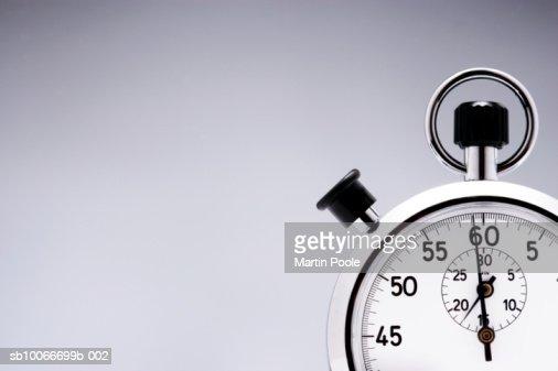 Stop watch, close-up : Stock Photo