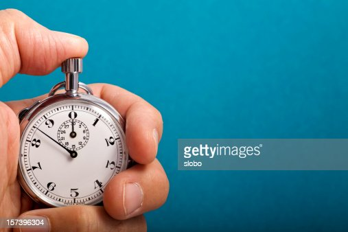 Stop Watch In Hand