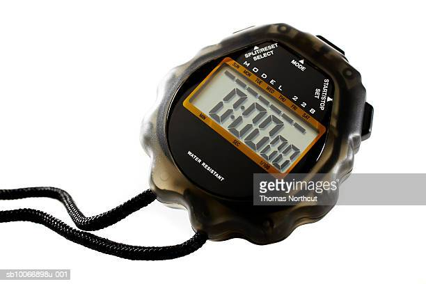 Stop watch on white background