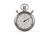 StopWatch On White With Clipping Path