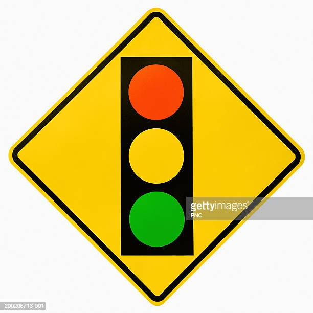 Stoplight ahead road sign