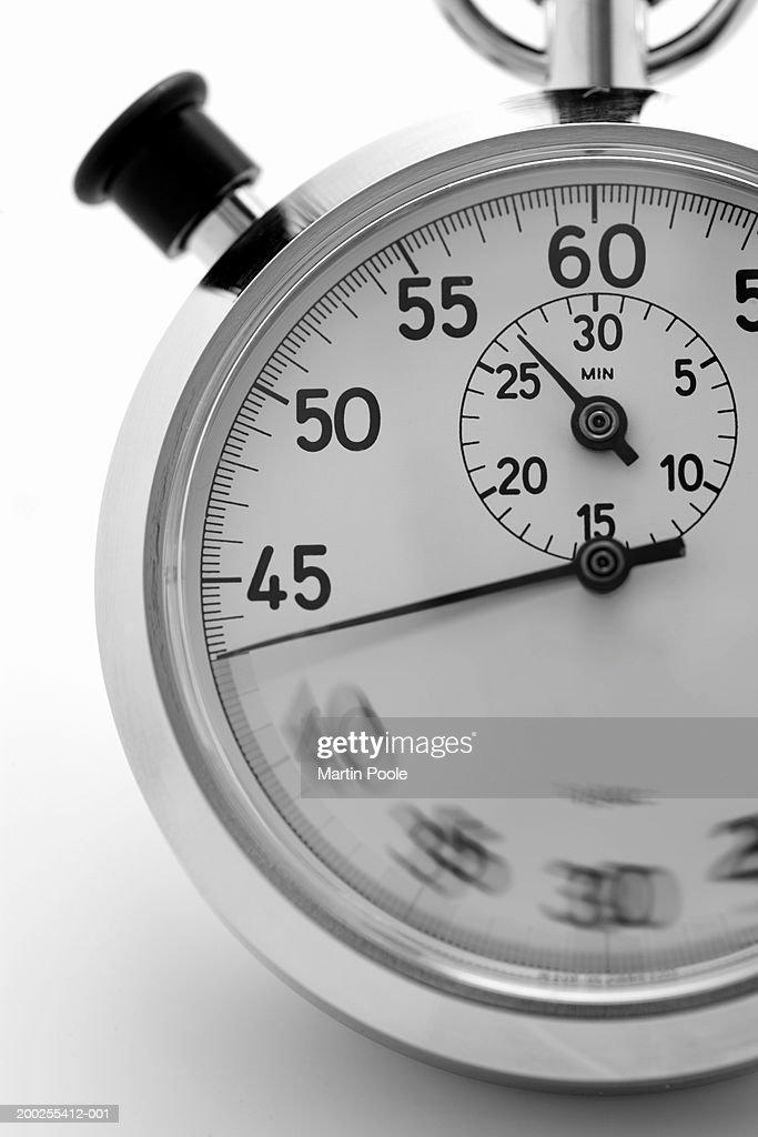 Stopwatch, close-up : Stock Photo
