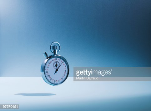 Stopwatch floating : Stock Photo