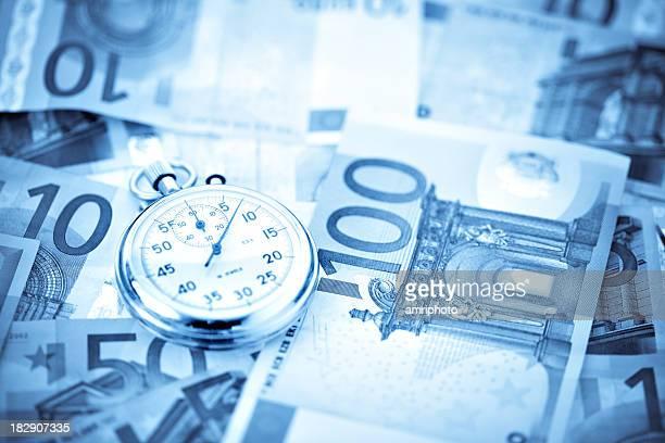 Stoppuhr auf Euro Perspektive große