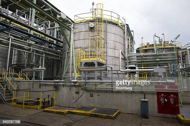 A storage silo stands at the Roundup herbicide manufacturing facility operated by Monsanto Co in Antwerp Belgium on Tuesday June 14 2016 The next...
