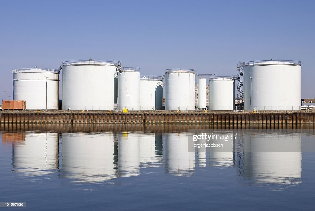 Storage tanks at harbor