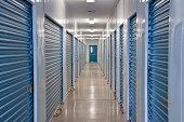 Indoor storage units.