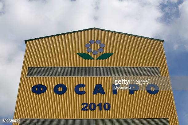 A storage warehouse stands at the PhosAgroCherepovets fertilizer plant operated by PhosAgro PJSC in Cherepovets Russia on Wednesday Aug 9 2017...