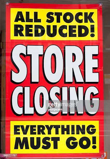 Store Closing Window Display Sign