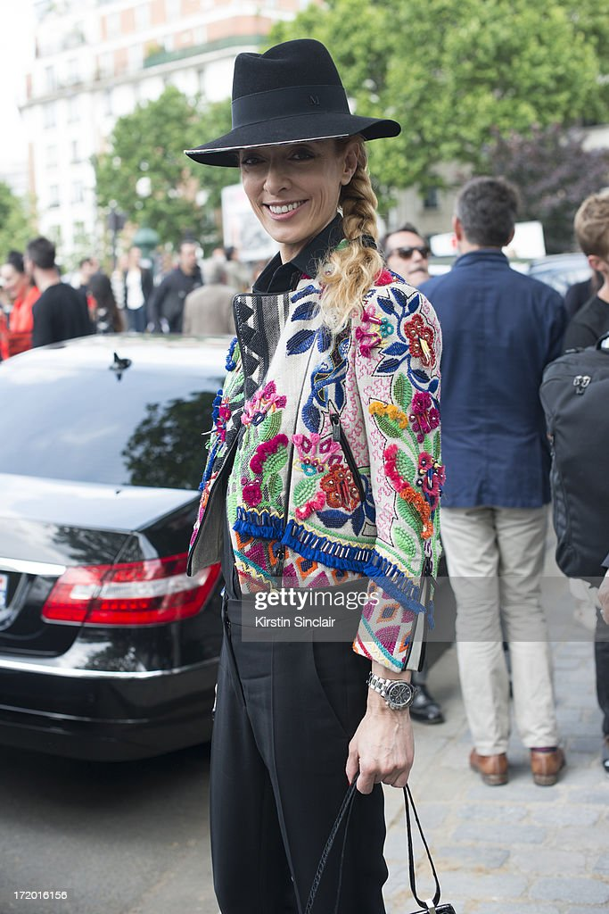 Store director for Kabuki Elina Halimi wears on day 4 of Paris Collections: Men on June 29, 2013 in Paris, France.