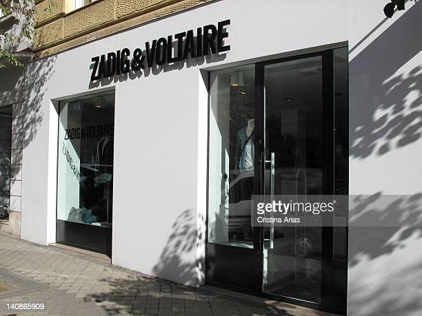 Store in Madrid of the French fashion brand for young Zadig Voltaire located in Claudio Coello street in the Salamanca district of Madrid Spain...