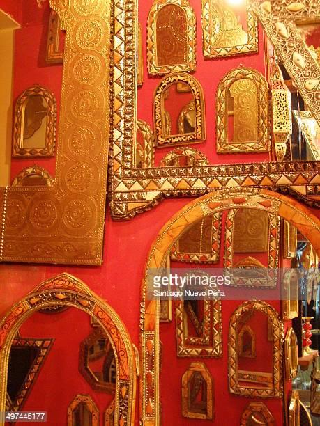 Store mirrors Fez. Morocco