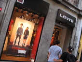 Store of the american brand of fashion Levi's in Fuencarral Street of Madrid Spain