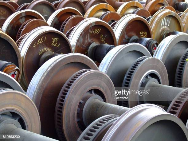 Store of Train Wheels in a Manufacturing Shop