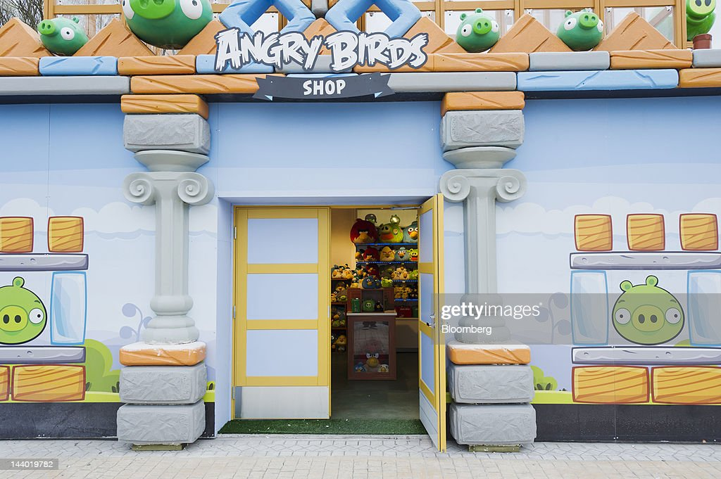 A store selling Angry Birds merchandise is seen in Angry Birds Land, an Angry Birds-themed activity center within the Sarkanniemi adventure park near Tampere, Finland, on Friday, May 4, 2012. Rovio Entertainment Oy reported FY sales of EU75.4m. Photographer: Juho Kuva/Bloomberg via Getty Images