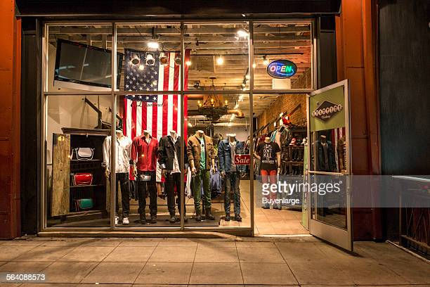 Storefront on Santa Monica Boulevard in West Hollywood California
