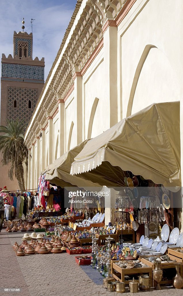 Stores outside of the Saadian Tombs : Stock Photo