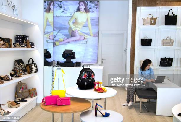 Stores such as Nine West are being stocked with inventory soon to open at Rawabi a highend multiuse development in Rawabi West Bank on April 4 2017...